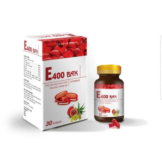 Thực phẩm bảo vệ sức khỏe E400 BAK